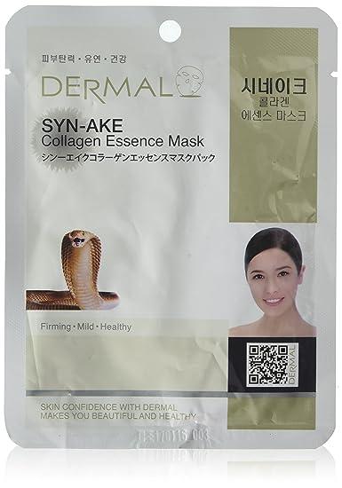 Dermal Dermal Syn-Ake Collagen Essence Mask (10 Pieces) Neutrogena Body Clear Body Scrub, Salicylic Acid Acne Treatment With Microbeads - 8.5 Oz, 3 Pack