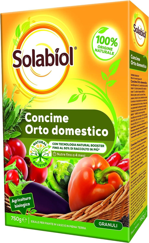 Solabiol - Abono granular biológico para huerto doméstico, 750 g