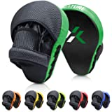 Xnature Essential Curved Boxing MMA Punching Mitts Boxing Pads w/Gift Box Hook & Jab Pads MMA Target Focus Punching…