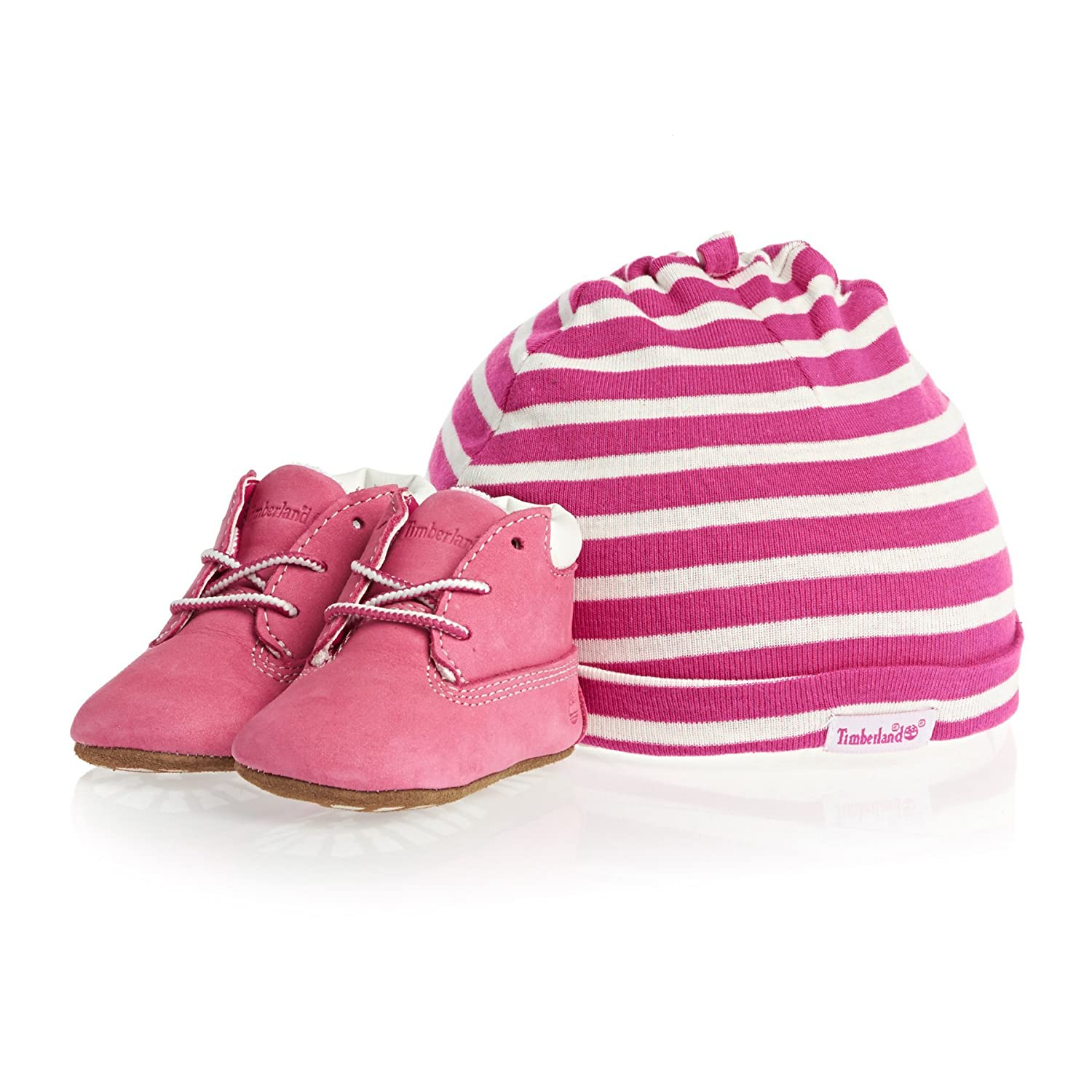 Timberland Unisex Babies' Crib Bootie with Hat Boot C9589rm