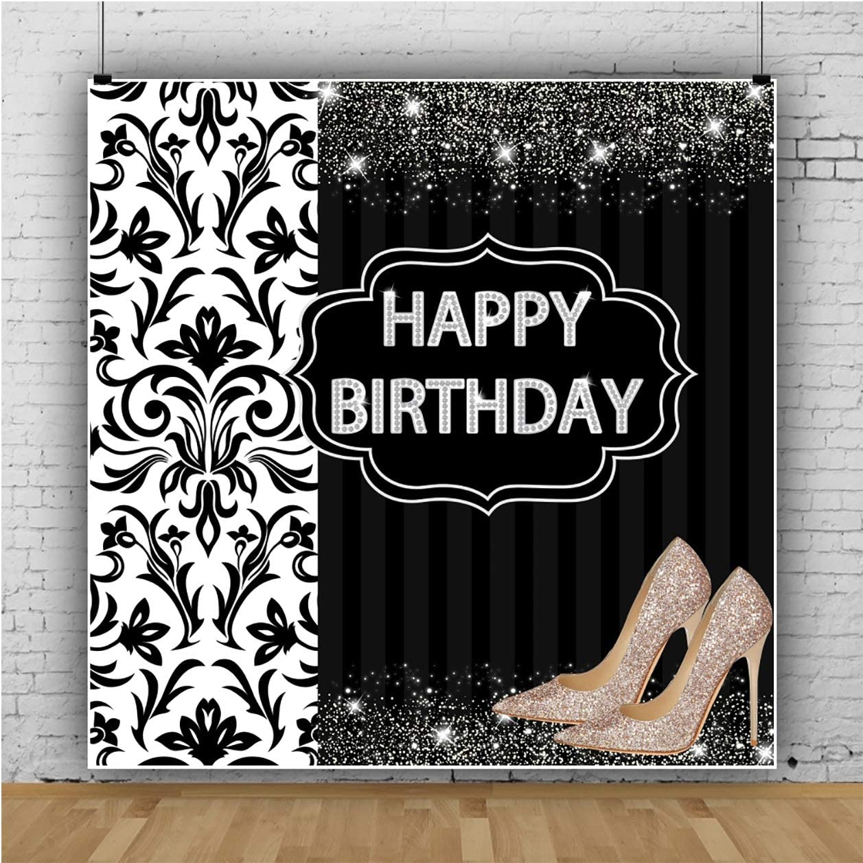 Red Hot heels Vinyl Backdrop for Hollywood theme,Photo Booth prop 7 Ft X 6 Ft Heels Birthday backdrop