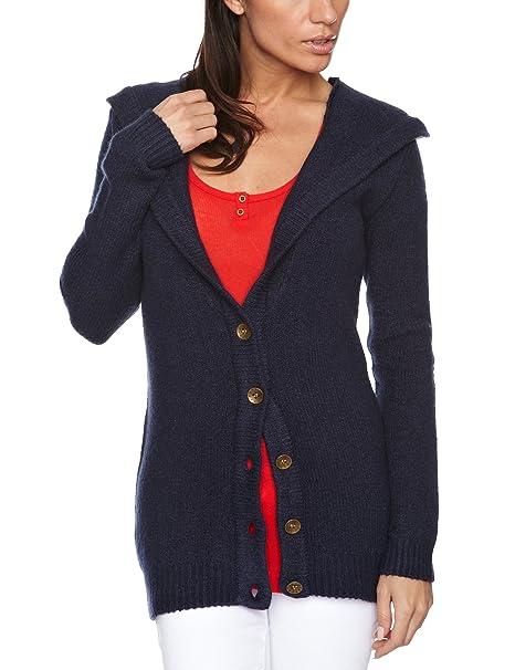 Quiksilver Lagoon Hooded - Sudadera para Mujer, tamaño L, Color Indigo Azul