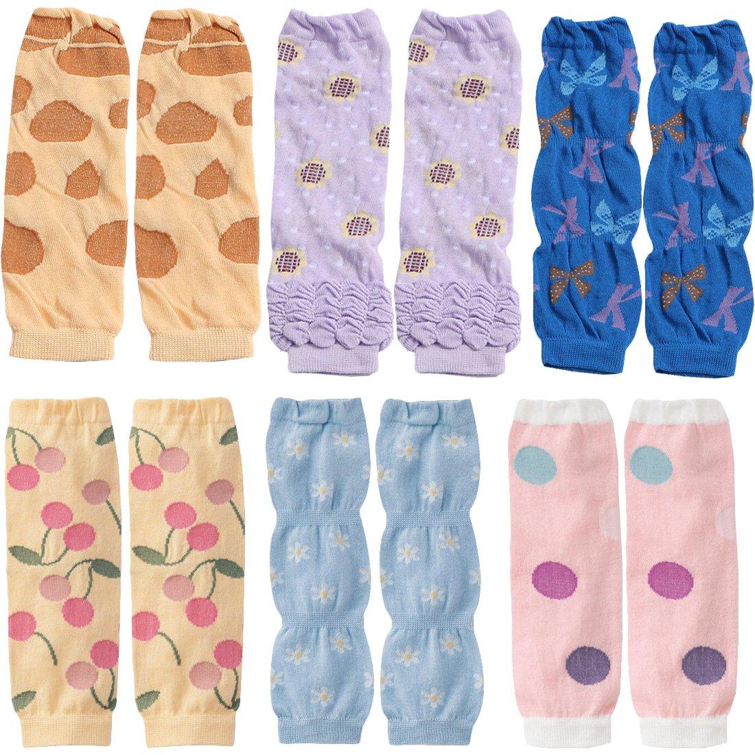 KF bebé 6pieza suave fina Summer calcetines de rodilleras manga calentadores de la pierna regalo Value Pack kilofly