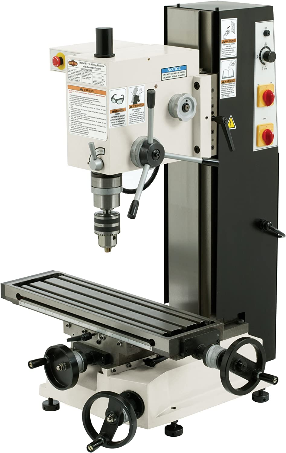 5. Shop FOX M1110 Variable Speed Mill and Drill