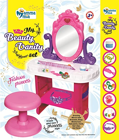 Instabuyz My Beauty Vanity Set For Girls Amazonin Toys Games