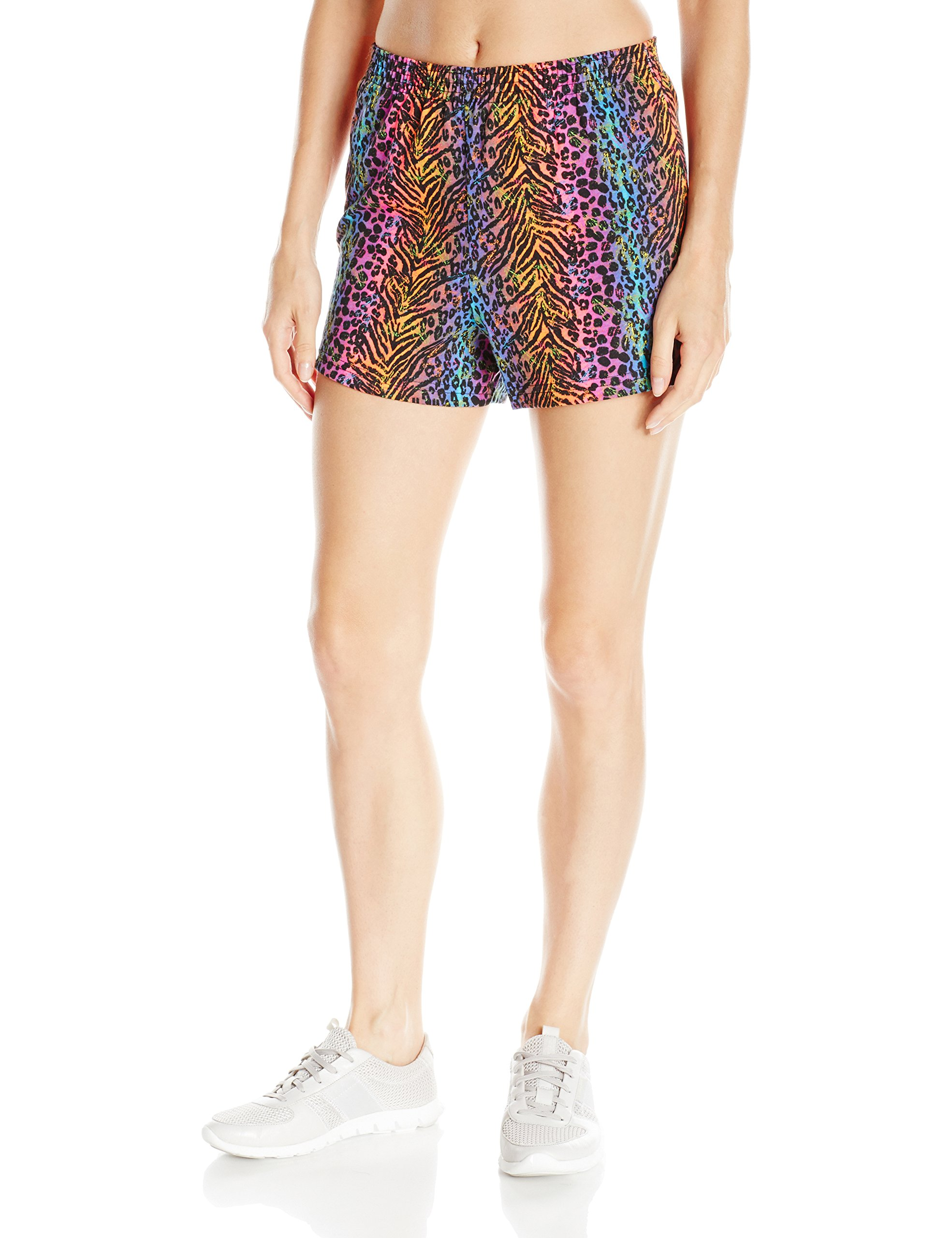 Soffe Women's Jr Printed Short Cctn, Animal Feathers X-Small