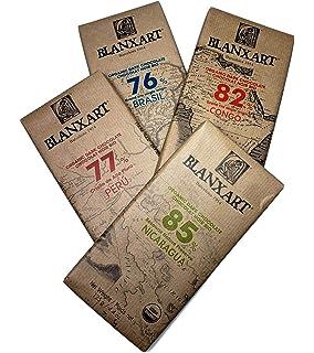 Blanxart Single Origin Eco Chocolate Bar variety pack (Four 4.4 Ounce Bars)