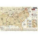 National Geographic: Battles of the Civil War Wall Map (35.75 x 23.25 inches) (National Geographic Reference Map)