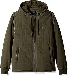 5891b7fda Amazon.com: RVCA Men's Hooded Bomber Ii Jacket: Clothing