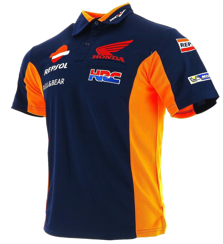 Honda Repsol Moto GP Team azul Marquez Pedrosa Polo Camisa Oficial 2017