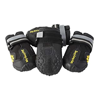 My Busy Dog Water Resistant Dog Shoes with Two Reflective Fastening Straps