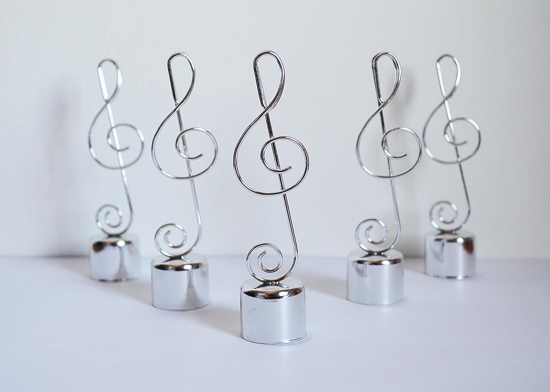 10 soportes con forma de nota musical para se/ñalar asientos o decorar el centro de la mesa