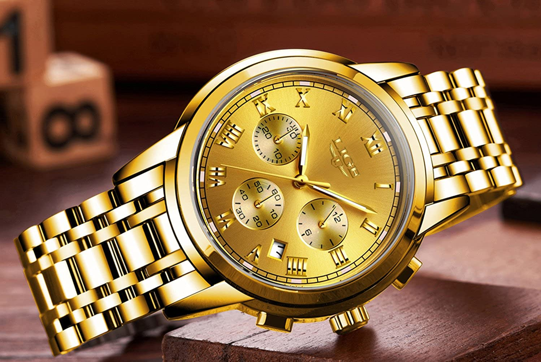 Fashion Sport Military Full Steel Business Date Waterproof Multifunction Chronograph Quartz Men Watch