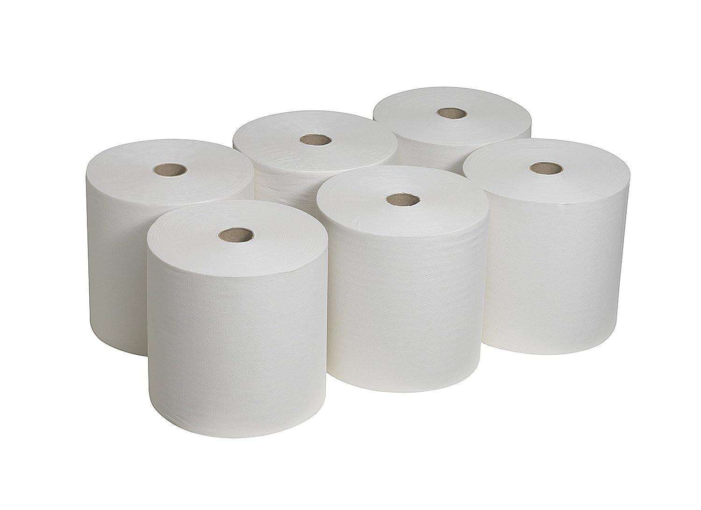 Colore Bianco Scott 6667 Asciugamani in Rotolo,6 Rotoli da 304 m 1 Velo