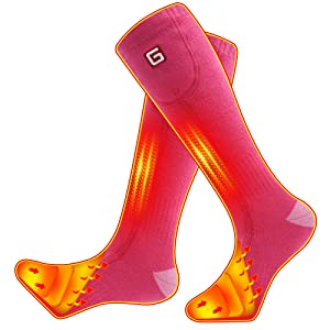 GLOBAL VASION Heated Socks,Unisex Cold Weather Electric Heated Socks,Socks Feet Warmers for Chronically Cold Feet Skiing,Camping,Hiking,Snowboating