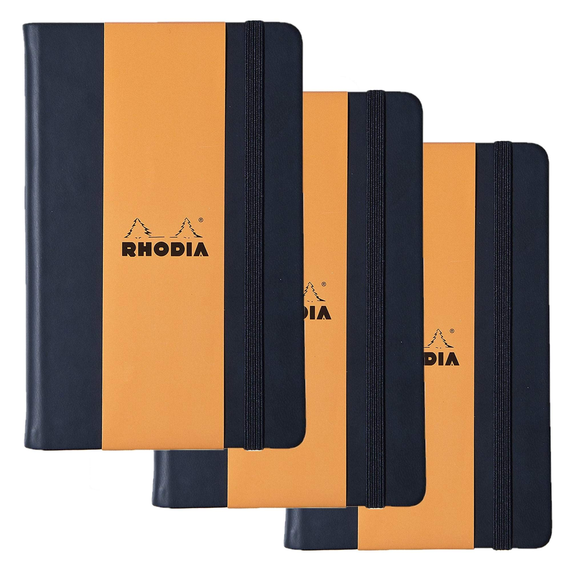 Rhodia Webnotebook Webbies - Lined 96 sheets - 5 1/2 x 8 1/4 - Black cover