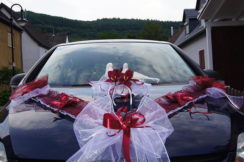 Auto Schmuck Hochzeit Blumen Braut Paar Dekoration Autoschmuck