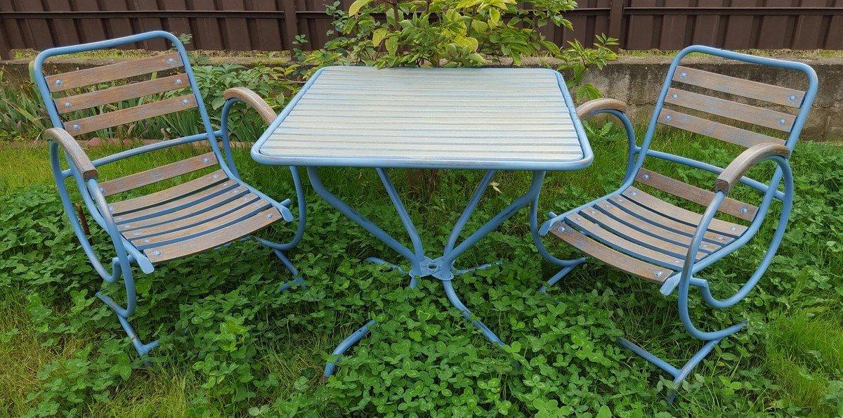casa padrino art nouveau garden furniture set vintage light blue rh amazon co uk