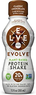 product image for Evolve Protein Shake, Classic Chocolate, 20g Protein, 12 Fl Oz (Pack of 12)
