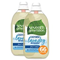 Seventh Generation Laundry Detergent, Ultra Concentrated EasyDose, Free & Clear,...