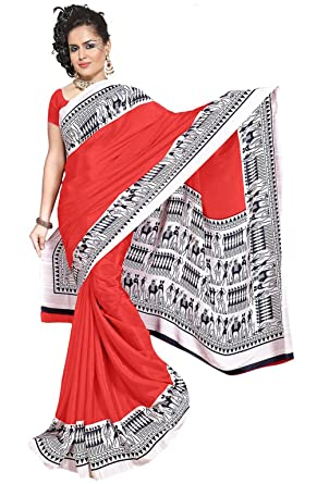 c5d3c64b7889a0 Shree Vaishnavi Presents Women's Clothing Saree Latest Designed Collection  in Printed, Self Design Bollywood Handloom