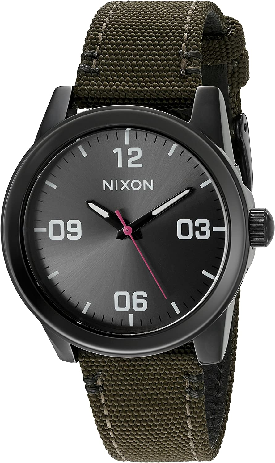 Nixon Women's 'G.I.' Quartz Stainless Steel and Nylon Watch, Color:Green (Model: A9641462-00)
