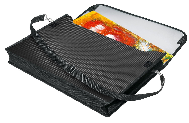 Veloflex 4431402–Segno Mappe velobag, DIN A3, formato orizzontale, altezza 60mm, rosso/blu/nero