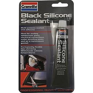 40g Granville Sellador de silicona Negro multiusos sellador y adhesivo