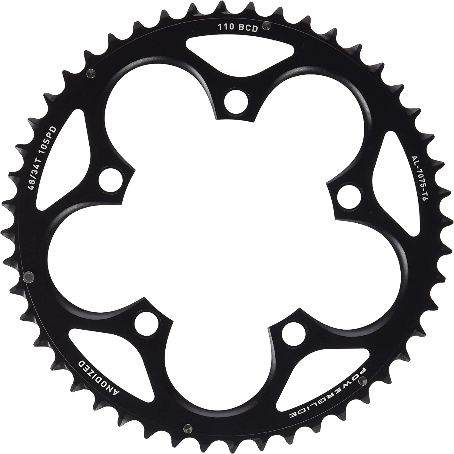 Use with 36T SRAM Force//Rival//Apex 50T 10-Speed 110mm Black Chainring