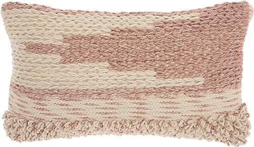 Mina Victory Life Styles Texture Gradient Blush Throw Pillow 14 x 24