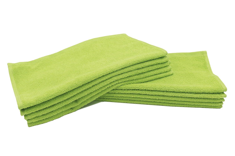 ZOLLNER 10 Toallas para la Cara, para Limpieza Facial,30x30 cm, 100% Rizo de algodón, Verde, en Otros Colores: Amazon.es: Hogar