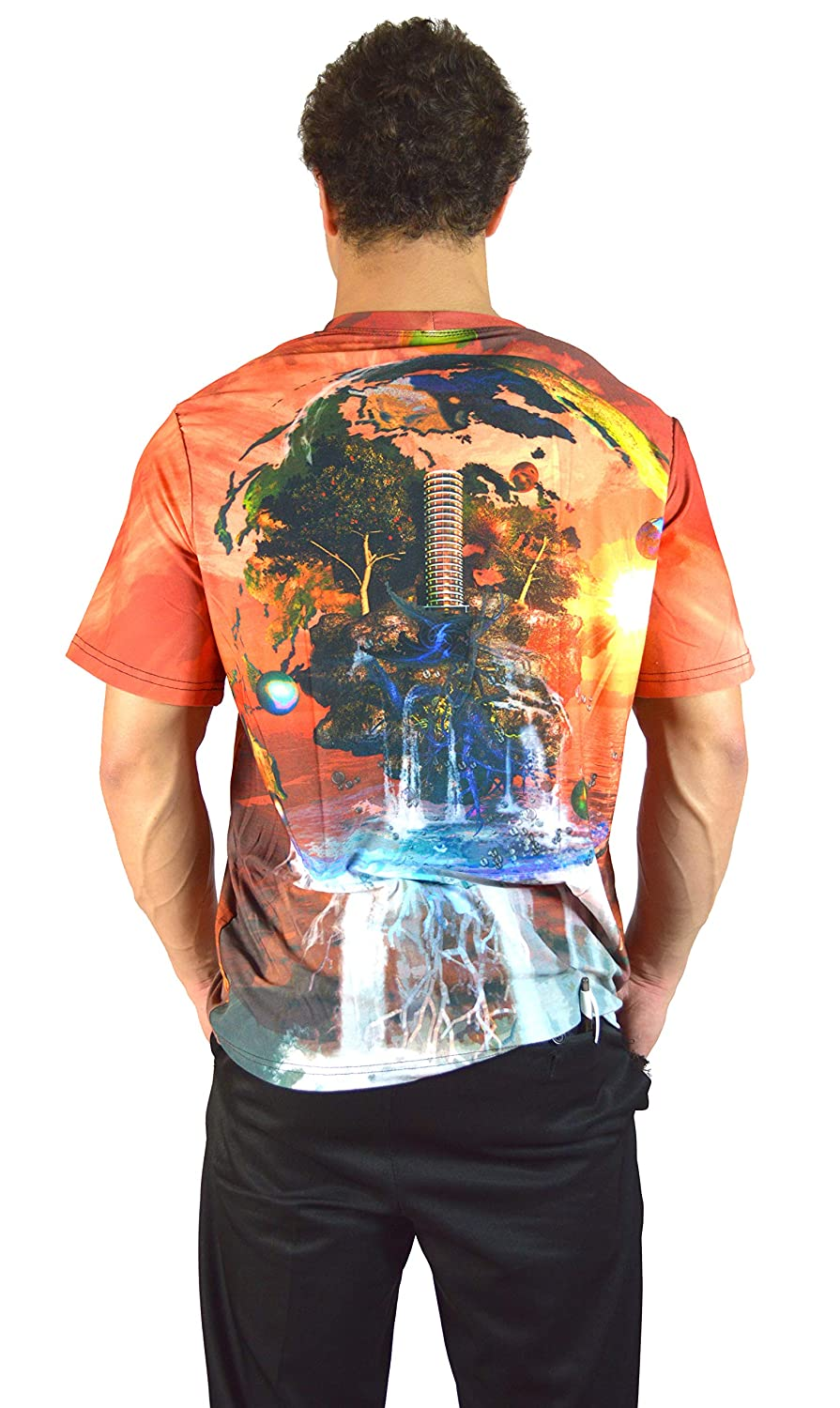 Drain The World Wrinkle Free Fade Resistant Dye Sublimated Allover Print Tshirt