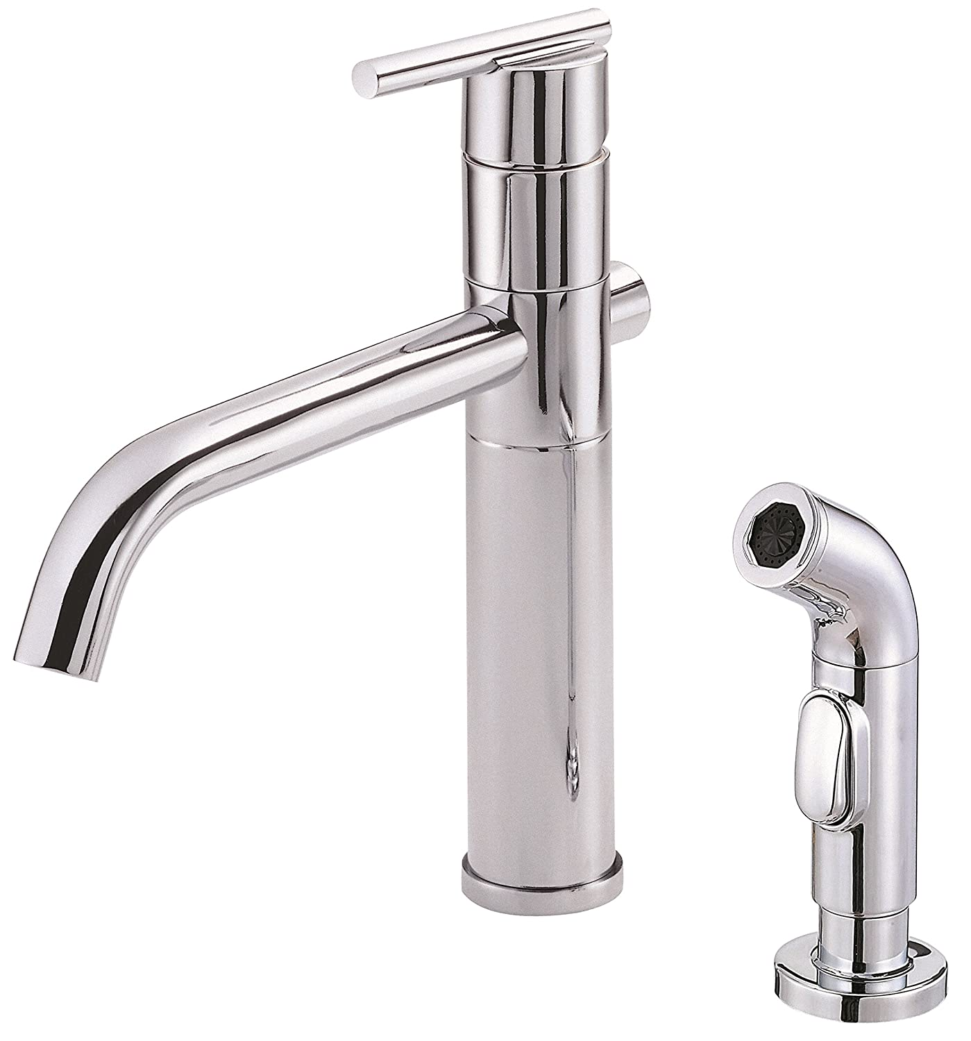 Danze D400058SS Parma Single Handle Kitchen Faucet with Side Spray ...