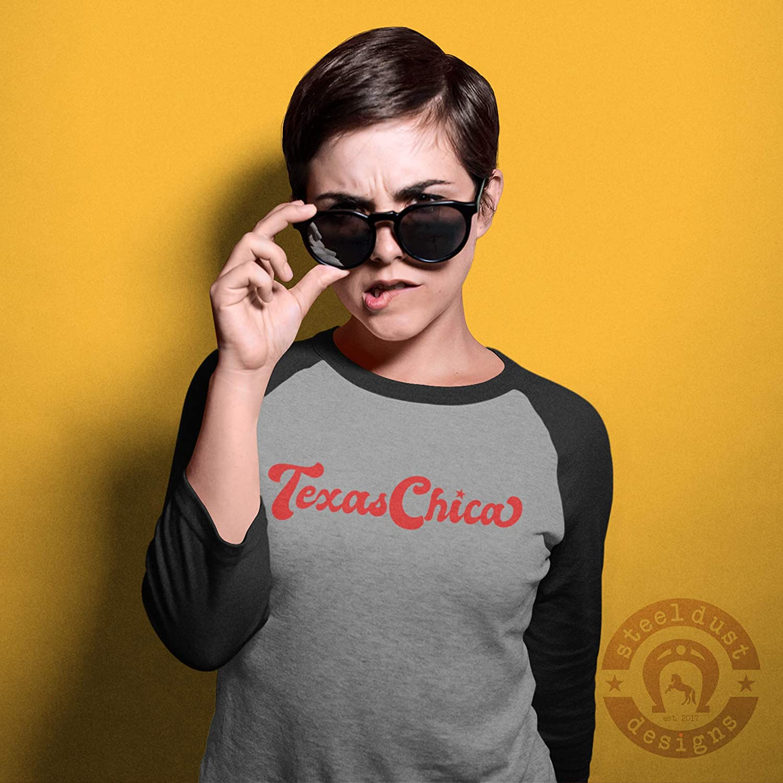 Amazon.com: Texas Chica Shirt Baseball Raglan Tee Texas ...