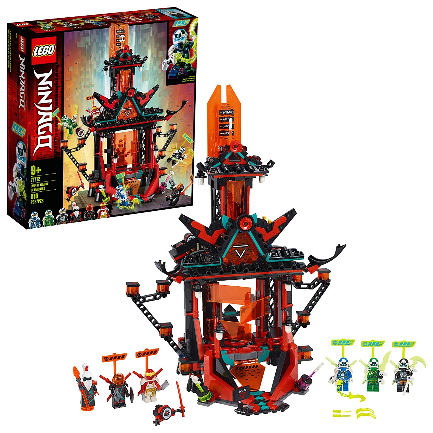 LEGO NINJAGO Empire Temple of Madness 71712 Ninja Temple Building Kit, New 2020 (810 Pieces)