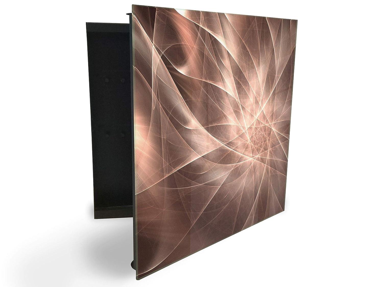 GlassArtist Cassetta Portachiavi 30 x 30 cm con Parte Frontale in Vetro Magnetico 242045146