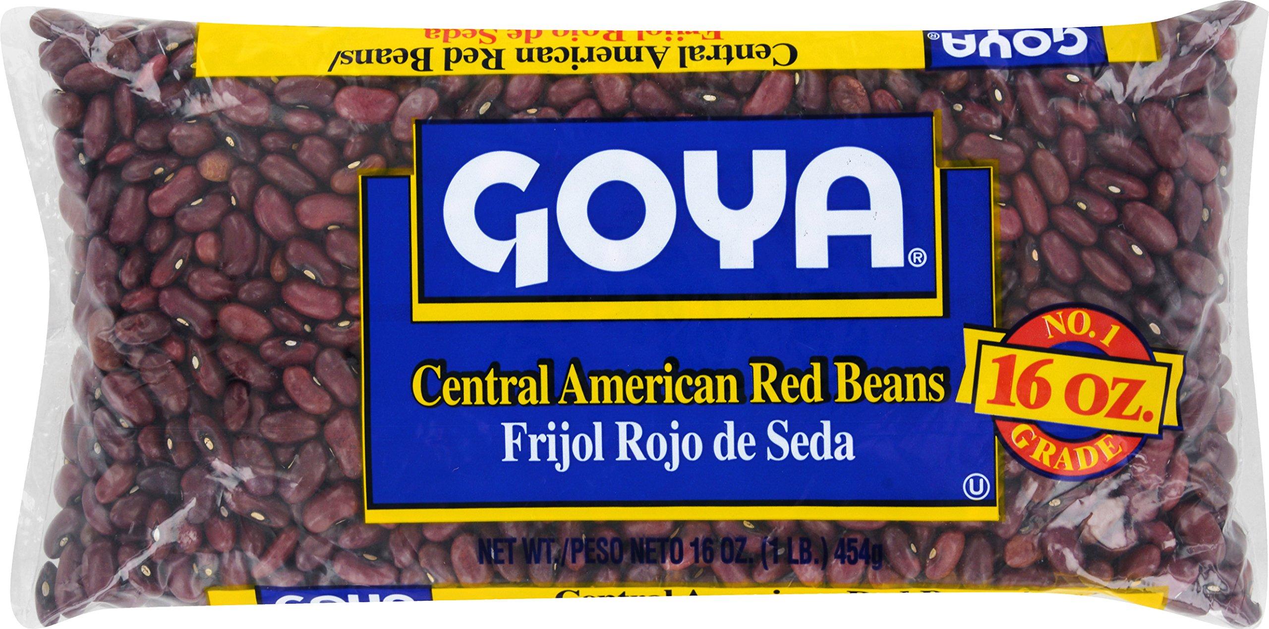 Goya Foods Salvadorean Red Beans (Frijol Rojo De Seda), 16-Ounce (Pack of 24) by Goya