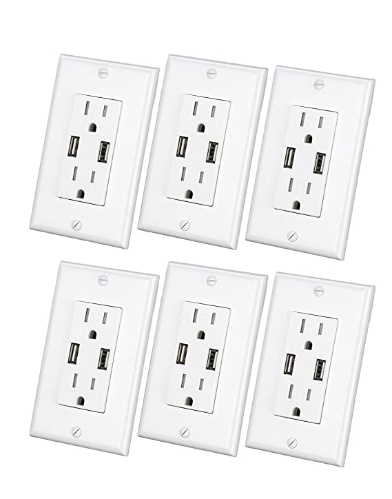 High Speed Usb Charger Outlet 3 1a Usb Wall Charger Electrical