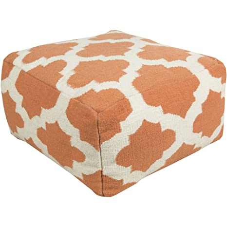 Amazon.com: Surya 24 in. Marruecos Square lana Pouf: Kitchen ...