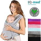 iQ-med Babytragetuch   aus BIO-Baumwolle   atmungsaktiv und leicht   + Anleitung