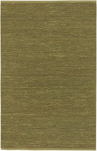 Area Rug 2×3 Rectangle Natural Fiber Lime Green Color – Surya Continental Rug from RugPal