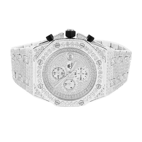 Para hombre imitación de diamante reloj Joe Rodeo Jojo JoJino Master de Bling ap-01 47 mm: Amazon.es: Relojes