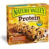 Nature Valley Chewy Granola Bar, Protein, Peanut Butter Dark Chocolate, 5 Bars - 1.4 oz (Pack of 6)