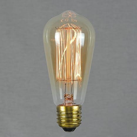 The Retro Boutique ® - Vintage Edison Light Bulb 60w - Squirrel Cage 64mm  E27 ES Dimmable