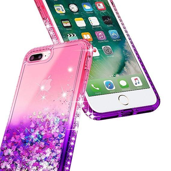 Amazon.com: Funda líquida para iPhone 6/6P/7/7Plus con ...