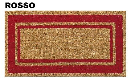 CASA TESSILE Zerbino In Cocco SUPER Cm 40X80   ROSSO