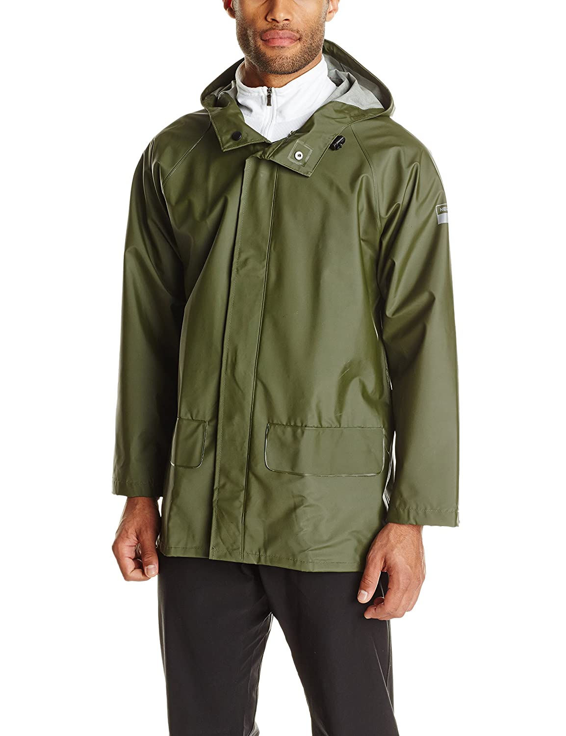 Mens olive green raincoat