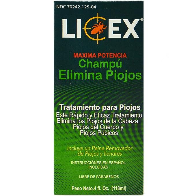 Amazon.com: Licex Lice Killing Shampoo Elimina Piojos Lice Removal Comb Inside 4oz: Health & Personal Care