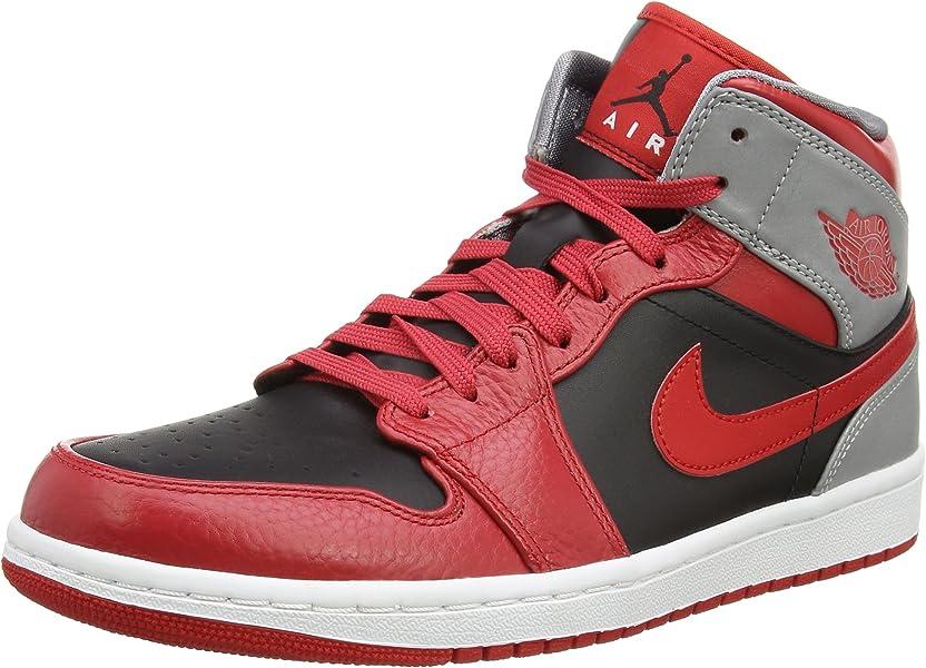 online store d0e34 bc343 Nike Homme AIR Jordan 1 MID Red 554724-603-42-8.5 Amazon.ca Shoes   Handbags