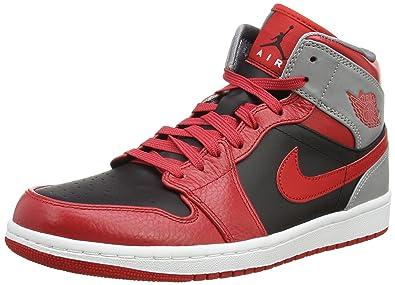 promo code 67406 8e4ba Nike AIR JORDAN 1 MID Baskets Homme 554724-603 -45 - 11 Rouge